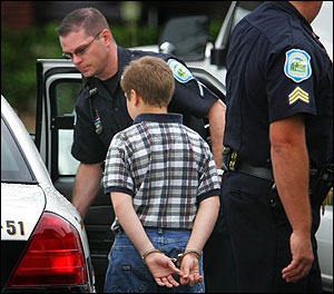 10 year old being arrested