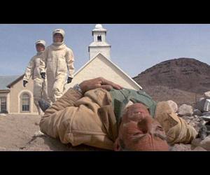 a victim of the alien virus in 1971'a The Andromeda Strain