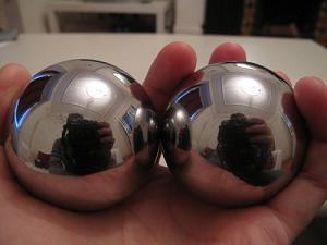 Giant steel balls