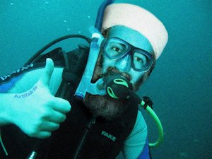 Bin Laden SCUBA diving