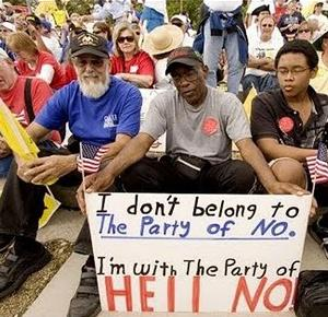 Black person at tea party