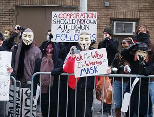 Thanks to the Internet, you can now protest anonymously