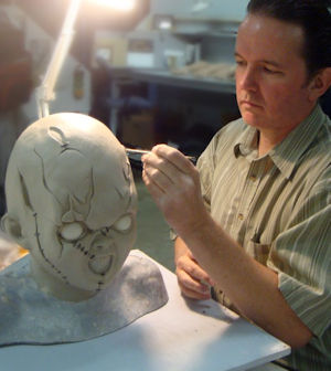 Chucky being made