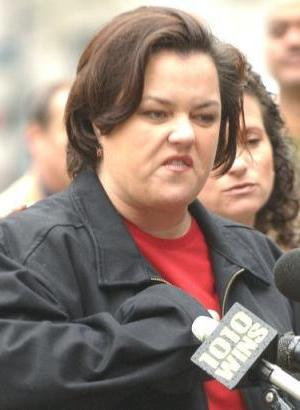 Rosie O'Donnell, how I wish I weren't on the same side as you on this one