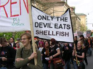 Only the Devil eats shellfish