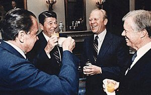 Presidents drinking