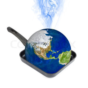 The Earth in a frying pan