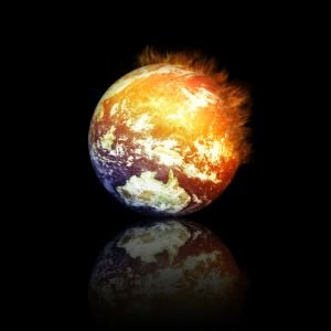 The Earth on fire