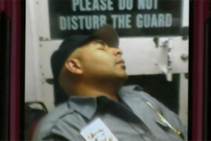 Guard sleeping at FBI HQ