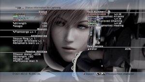 Lightning's status screen