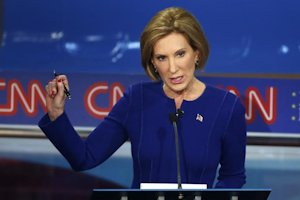 Carly Fiorina at the CNN debate