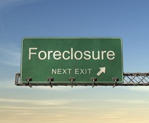 Foreclosure exit sign