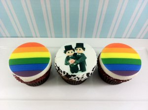 Gay marriage cupcakes