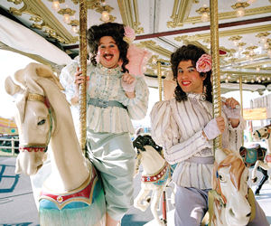 gay men on a merry-go-round