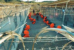 Prisoners at Guantanamo