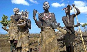 An AK-47 in Africa