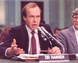 James Hansen before Congress, 1988