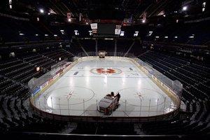 empty hockey rink