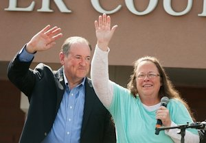 Mike Huckabee and Kim Davis