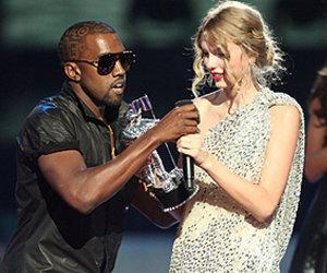 Kanye West interrupting Taylor Swift's acceptance speech