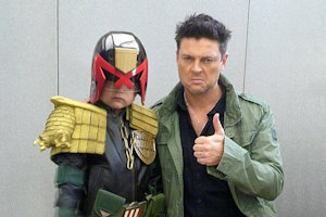 Urban with the biggest Dredd fan