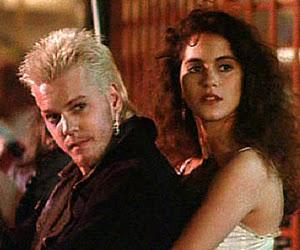Kiefer Sutherland (and Jamie Gertz) in The Lost Boys