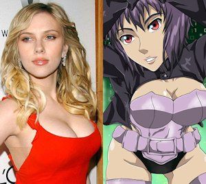 Scarjo and Kusanagi