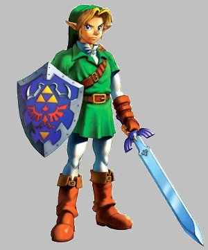 Link artwork from Ocarina of Time
