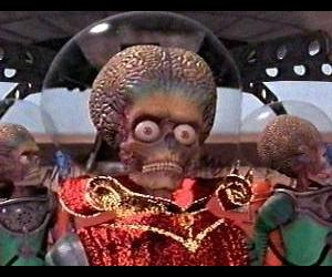 some cute, loveable little Martians in Mars Attacks!