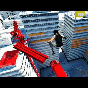 Screenshot from Mirror's Edge