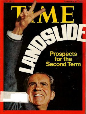Time Magazine's cover of Nixon's re-election landslide