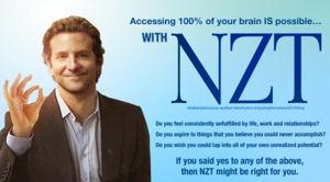 A fictional NZT ad