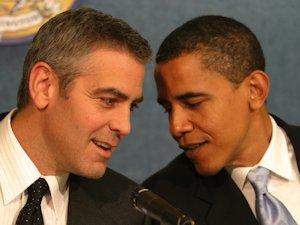 George Clooney and Barack Obama
