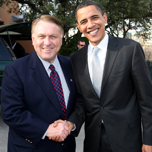 James Hoffa and Barack Obama