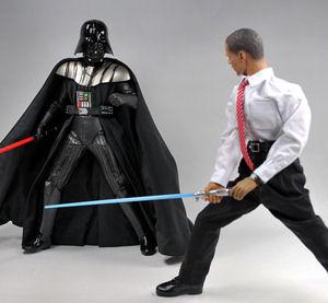 Obama fighting Darth Vader