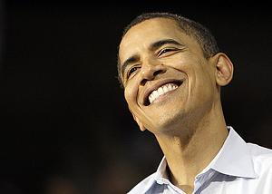 Smiling Obama