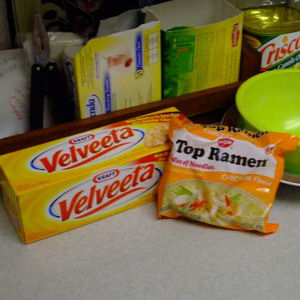 ramen and Velveeta