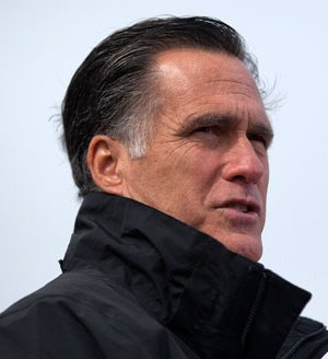 Romney at a campaign rally