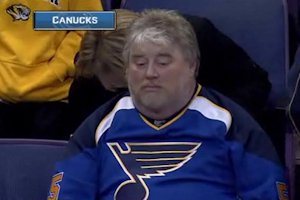 A sad Blues fan