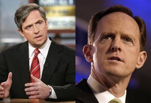 Joe Sestak and Pat Toomey