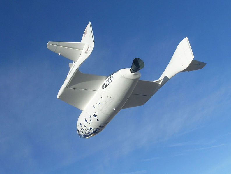 SpaceShipOne in flight