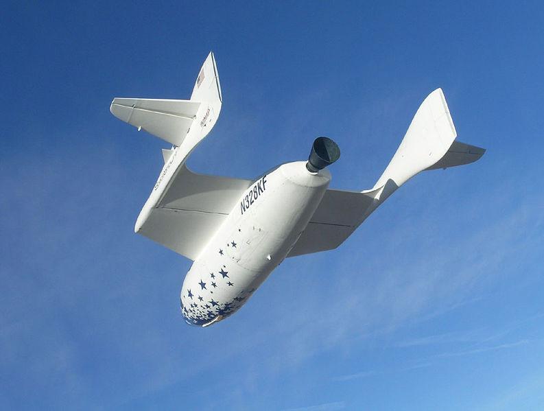 SpaceShipOne in flight