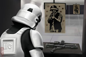 A Stormtrooper at a Firing Range