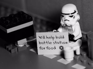 Out of work stormtrooper