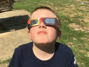 Thomas at the eclipse