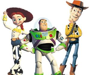 Jesse, Buzz, and Woody