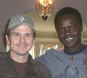 Dave Eggers and Valentino Achak Deng - picture taken from mcsweeneys.net