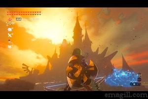 Approaching Hyrule Castle