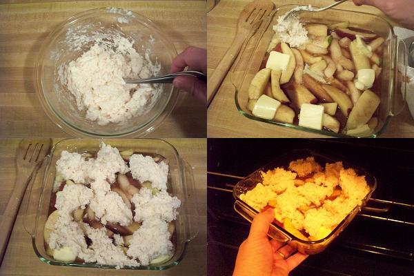 Pear & Apple Cobbler