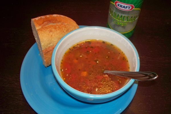 Vegetable Pizza Soup